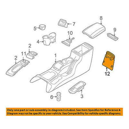jeep chrysler oem 05 07 liberty center console bezel. Black Bedroom Furniture Sets. Home Design Ideas