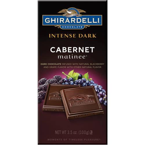 Ghirardelli Intense Dark Cabernet Matinee Dark Chocolate, 3.5 oz