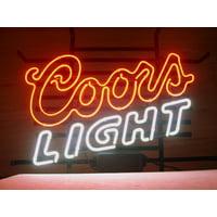 "Desung Brand New Coors Light Neon Sign Lamp Glass Beer Bar Pub Man Cave Sports Store Shop Wall Decor Neon Light 24""x 20"" WM48"
