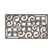 """First Impression Rubber Grill Hand Finished Unique Bronze Doormat-18"""" x 30"""""""
