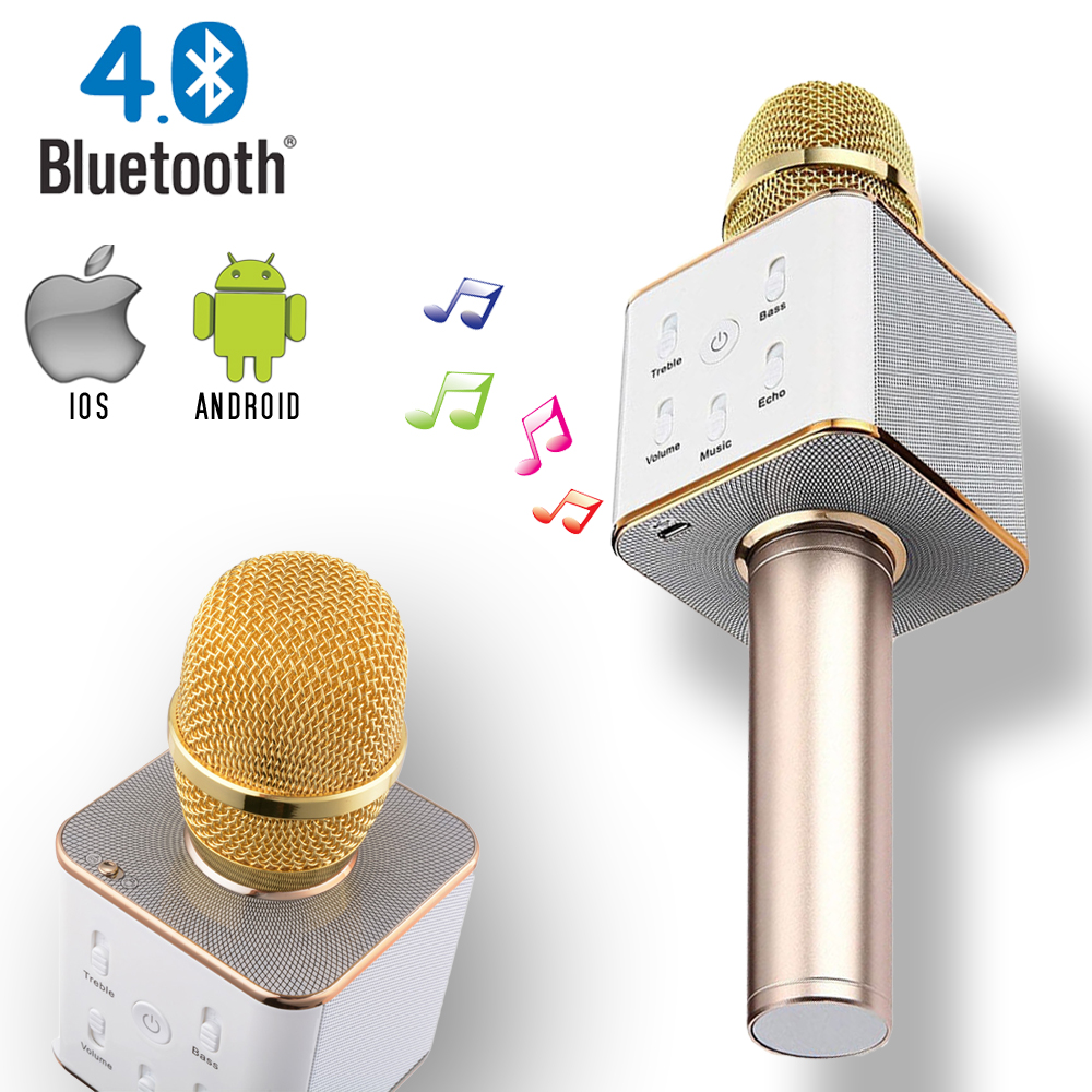 sound system in walmart. indigi® mq7 portable wireless bluetooth 4.0 karaoke microphone + speaker sound system in walmart