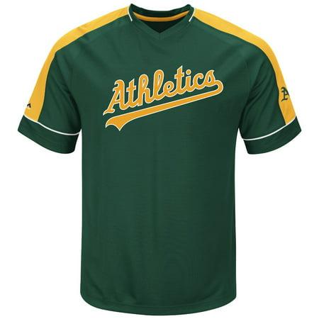 "Oakland Athletics Majestic MLB ""Lead Off Hitter"" V-Neck Mens Fashion Jersey by"