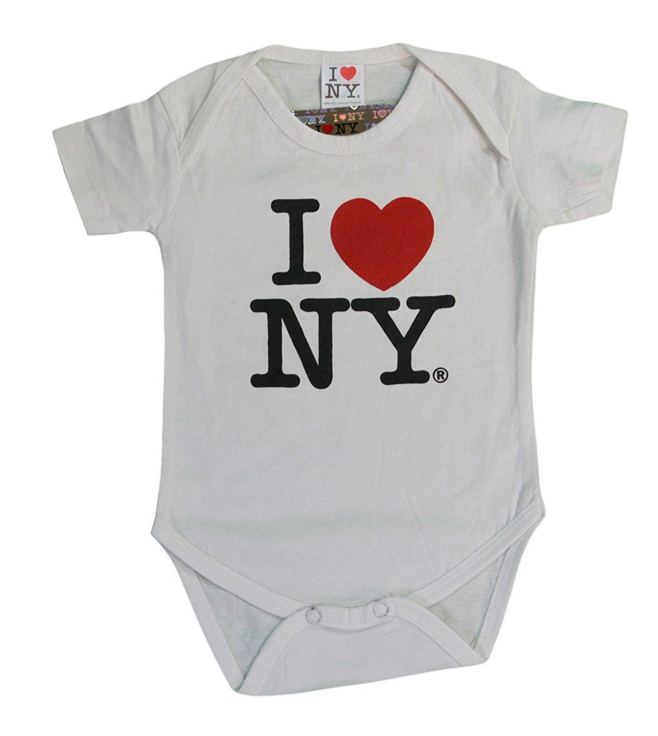 Newborn Baby Girl Boy I Love NY New York RomperRomper Jumpsuit Short Sleeved Bodysuit Tops Clothes