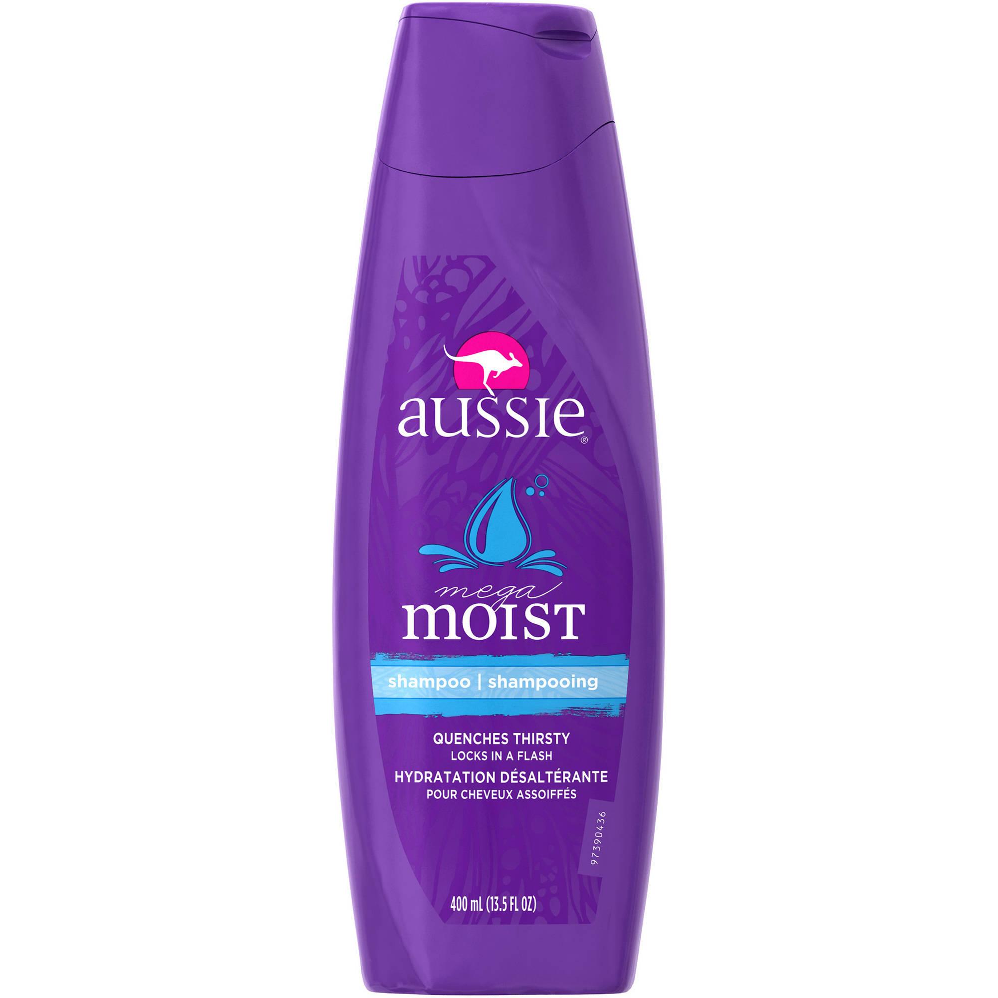 Aussie Mega Moist Shampoo, 13.5 fl oz