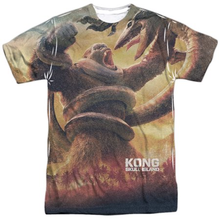 Kong Skull Island The Mighty Jungle  Front Back Print  Mens Sublimation Polyester Shirt