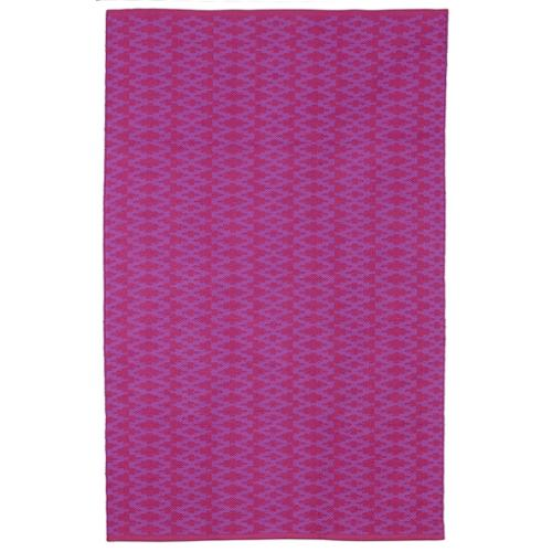 Marga  Very Berry and Violet Geometric Area Rug (4' x 6')