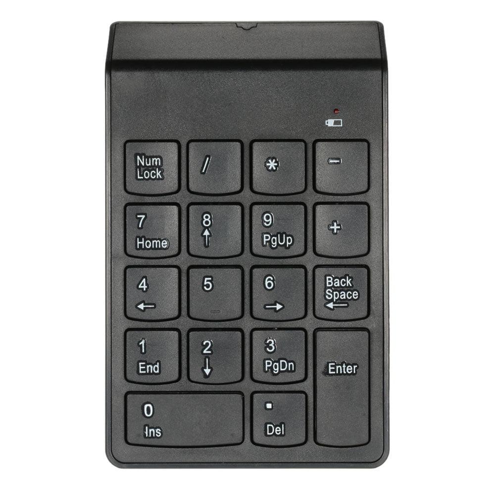 2.4G USB Numeric Keypad Wireless Number Pad 18 Keys Mini Digital Keyboard for iMac/MacBook/MacBook Air/Pro Laptop PC Notebook Desktop