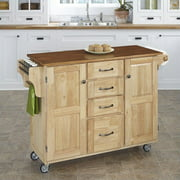 Create-a-Cart Natural Finish with Oak Top