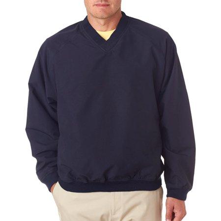 UltraClub 8926 Adult V-Neck Windshirt -Navy/ Navy-Small
