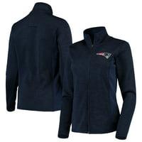 Women's G-III Sports by Carl Banks Navy New England Patriots Space Dye Full-Zip Jacket