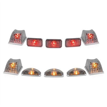 - VIPMOTOZ For 2003-2009 Hummer H2 SUT [10-Pieces] Front and Rear Roof Cab Lights