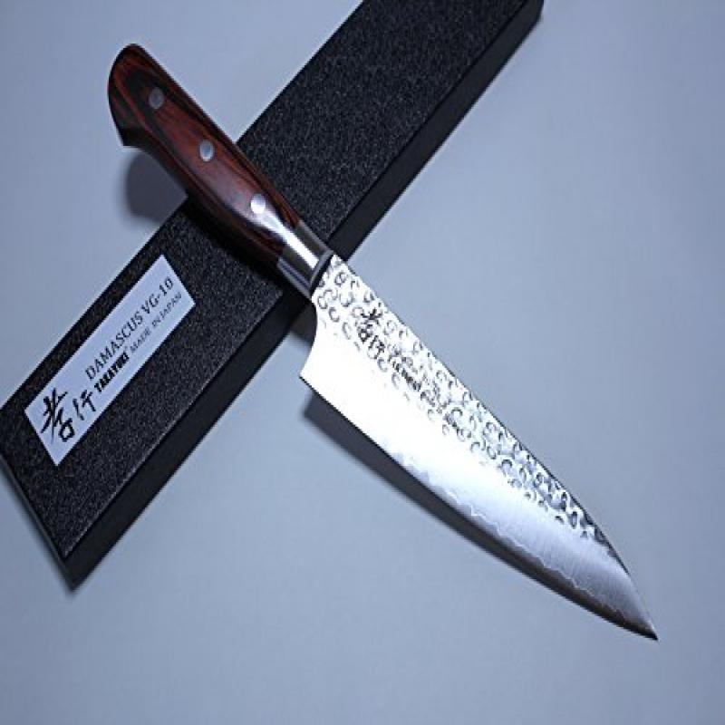 Sakai Takayuki Hammered Damascus 33 Layer Vg-10 Japanese Gyuto Chef Knife 180mm