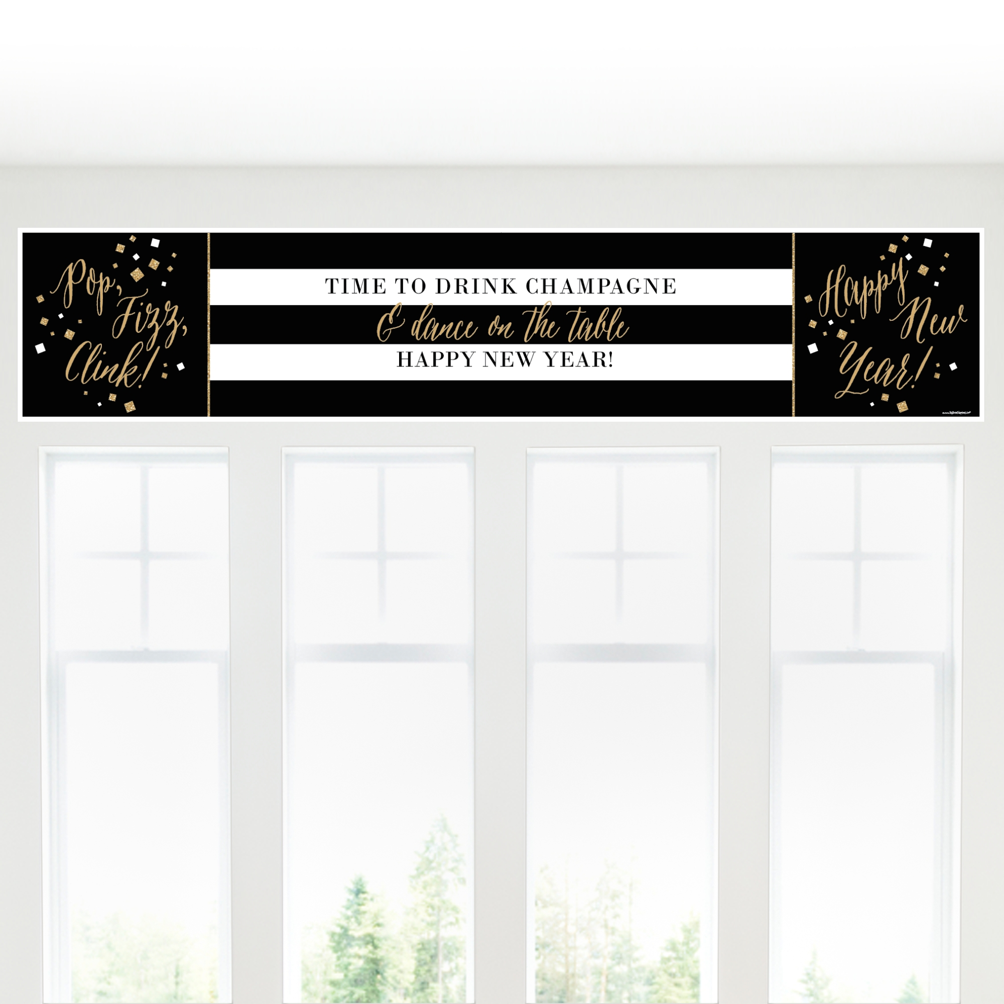 New Year's Eve - Gold - 2019 New Year's Eve Party Decorations Party Banner