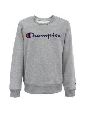 Champion Boys Embroidered Signature Fleece Crewneck Sweatshirt, Sizes 8-20