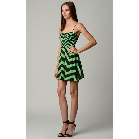 Urban Love Zig Zag Printed Corset Dress