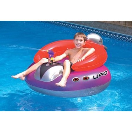 UFO Spaceship with Squirt Gun Water Float Toy for Swimming Pool & Beach