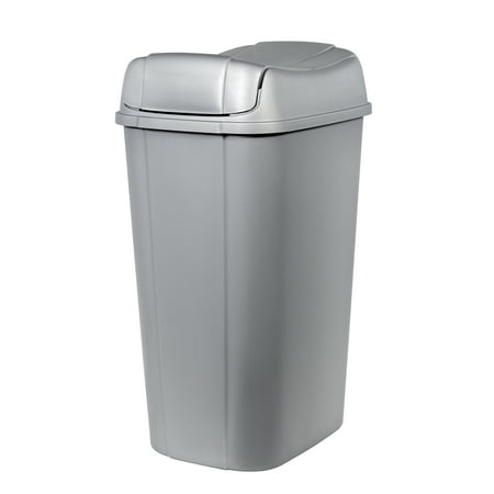 Hefty Pivot-Lid 13.3-Gallon Trash Can,