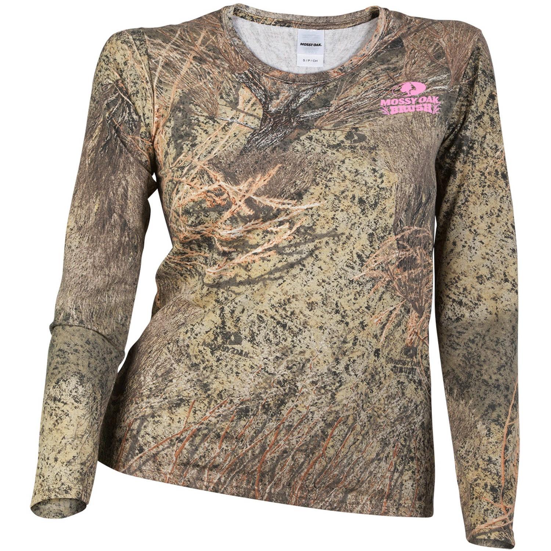 Mossy Oak Women's Camo Long Sleeve Crew Tee