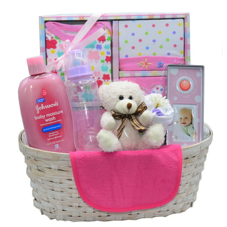 New arrival baby girl gift basket walmart new arrival baby girl gift basket negle Choice Image