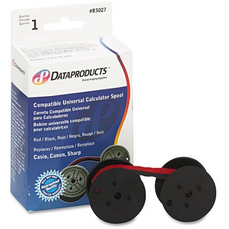 6 X Dataproducts (R3027) Red/Black Ribbon for Universal Calculator Spool