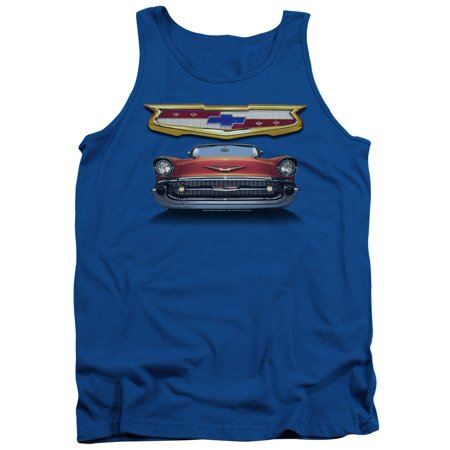 Chevrolet Automobiles 1957 Chevy Bel Air Classic Car Grille Adult Tank Top (1957 Grille)