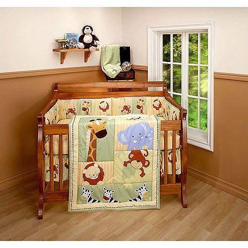 Little Bedding by NoJo Safari Kids 3pc Crib Bedding Set - Value Bundle
