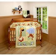 Little Bedding by NoJo Safari Kids 3pc Crib Bedding Set - Value Bundle
