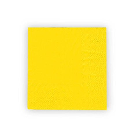 LIVINGbasics™ Party Paper Lunch Napkins 33*33CM 2ply, Yellow , 50Pcs - image 2 de 3