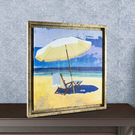 Crystal Art Gallery Beach Chair Framed Painting Print On Canvas