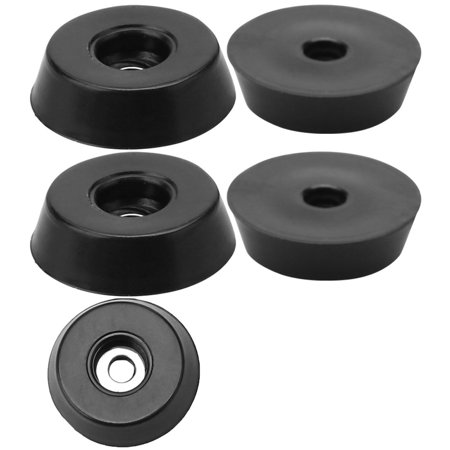5pcs Rubber Feet Bumper Buffer Cabinet Leg Pad with Metal Washer D18x15xH5mm - image 7 of 7