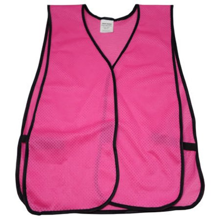 Hot Pink Safety Vests - Soft Mesh Plain Vests (Pink Womens Safety Vest)