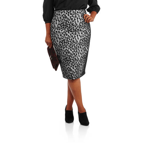 and co s plus size animal print pencil