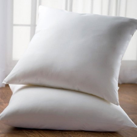 Cheer Collection White 26 x 26 Euro Square Pillow (Set of 2) ()