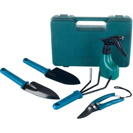 Stalwart 6-Piece Garden Tool Set with Carrying Case