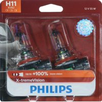 Philips X-Tremevision Headlight H11, Pgj19-2, Glass, Always Change In Pairs!