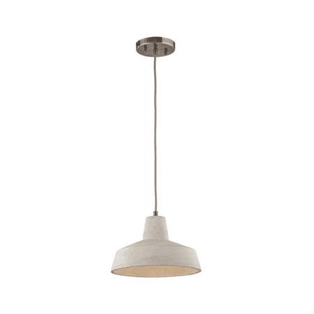 - Pendants 1 Light With Black Nickel Finish Natural Concrete Medium Base 10 inch 60 Watts - World of Lamp