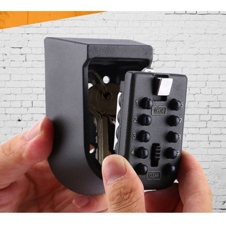 8a67fc87127f Key Safe Lock Box Wall Mounted Weather Resistant Secure Box Keys Holder for  Home Garage BNBs