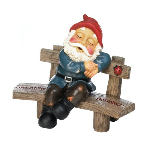 Zingz & Thingz Dreaming and Wishing Gnome Statue by Zingz & Thingz