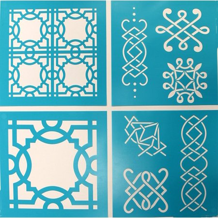 Vintage Decor Stencil, 33556 Ornamental Trellis, Stencil use for Vintage 33556 33557 Fleur Designs 575 32268 decor are furniture 875.., By Martha Stewart Crafts Ship from US