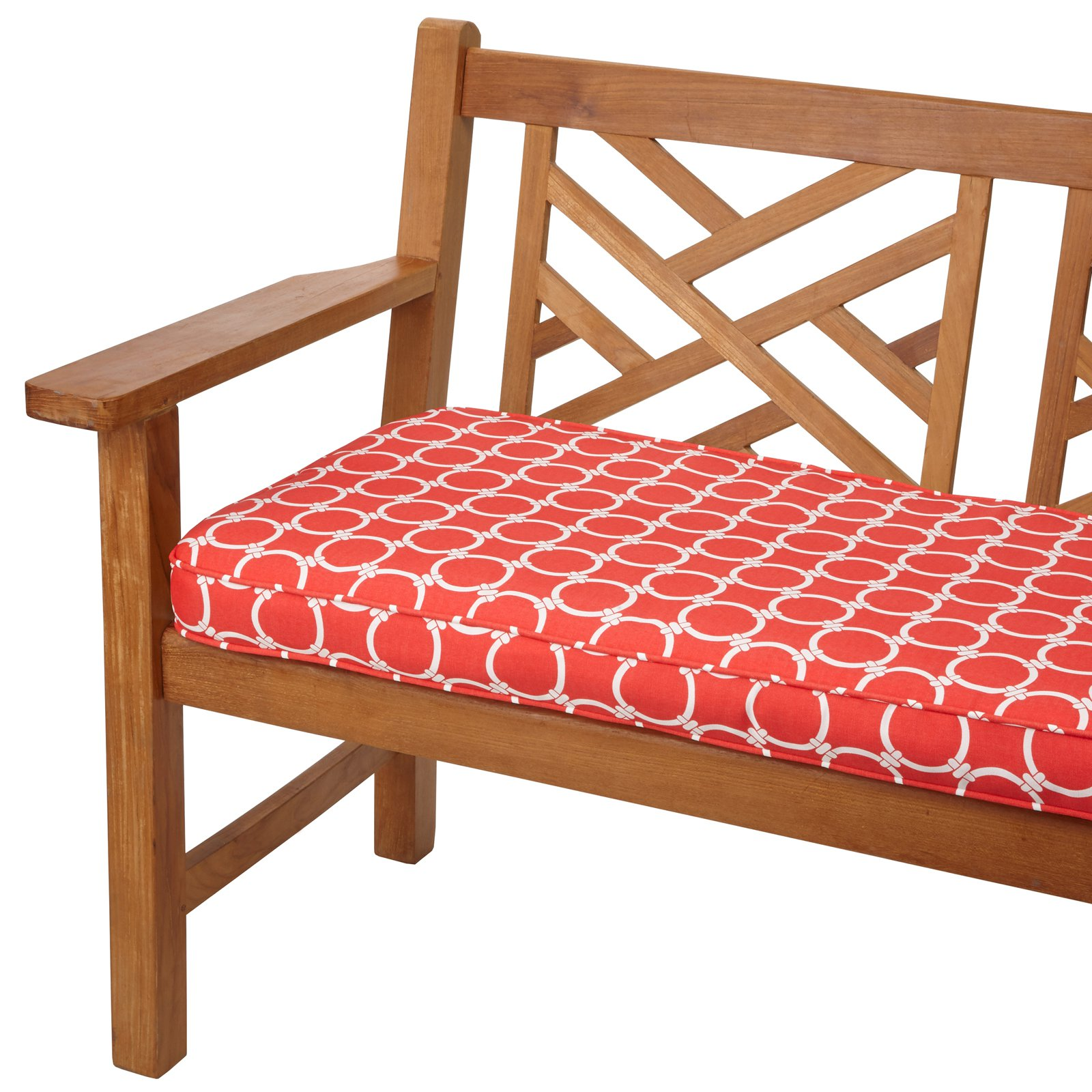 Mozaic Company Chloe Indoor/Outdoor Corded Bench Cushion - 4 or 5 ft. Option
