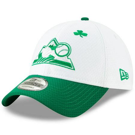 quality design 7a5bb 5d4c2 Colorado Rockies New Era 2019 St. Patrick s Day 9TWENTY Adjustable Hat -  White Kelly