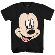 a4a69758 Disney Mickey Mouse Face Big Smile Disneyland World Retro Classic Vintage  Tee Funny Humor Adult Mens