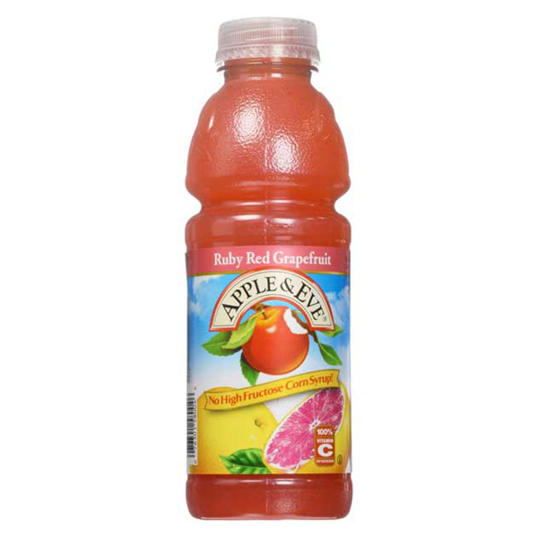 Apple & Eve Ruby Red Grapefruit Cocktail 16 oz Bottles Pack of 12 by