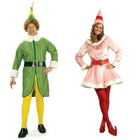 Buddy the Elf and Jovi Couples Costume Bundle Set - Plus (Juno Couples Costume)
