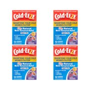 4 Pack Cold-Eeze Plus Natural Cold & Flu Relief Mixed Berry 12 Lozenges Each