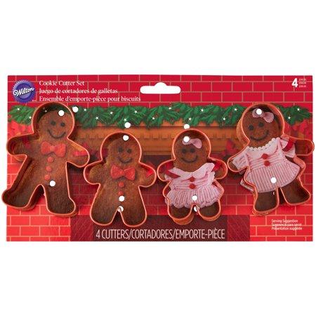 Metal Cookie Cutter Set 4/Pkg-Gingerbread Mantel - Metal Cookie Cutters Halloween