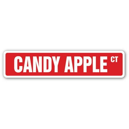 CANDY APPLE Street Sign toffee apples sugar fair cinnamon | Indoor/Outdoor | 24