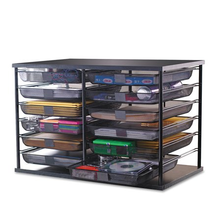 Rubbermaid Desk Accessories - Rubbermaid 12-Compartment Organizer with Mesh Drawers, 23 4/5