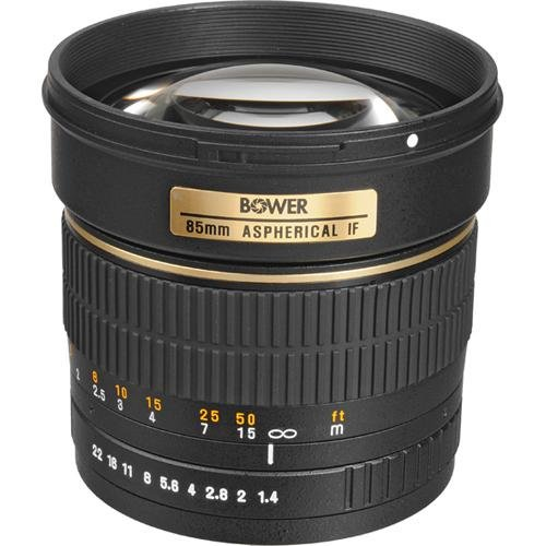 Bower SLY85N High-Speed Mid-Range 85mm f/1.4 Telephoto Le...