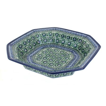 - Polish Pottery Indigo Small Octagonal Dish